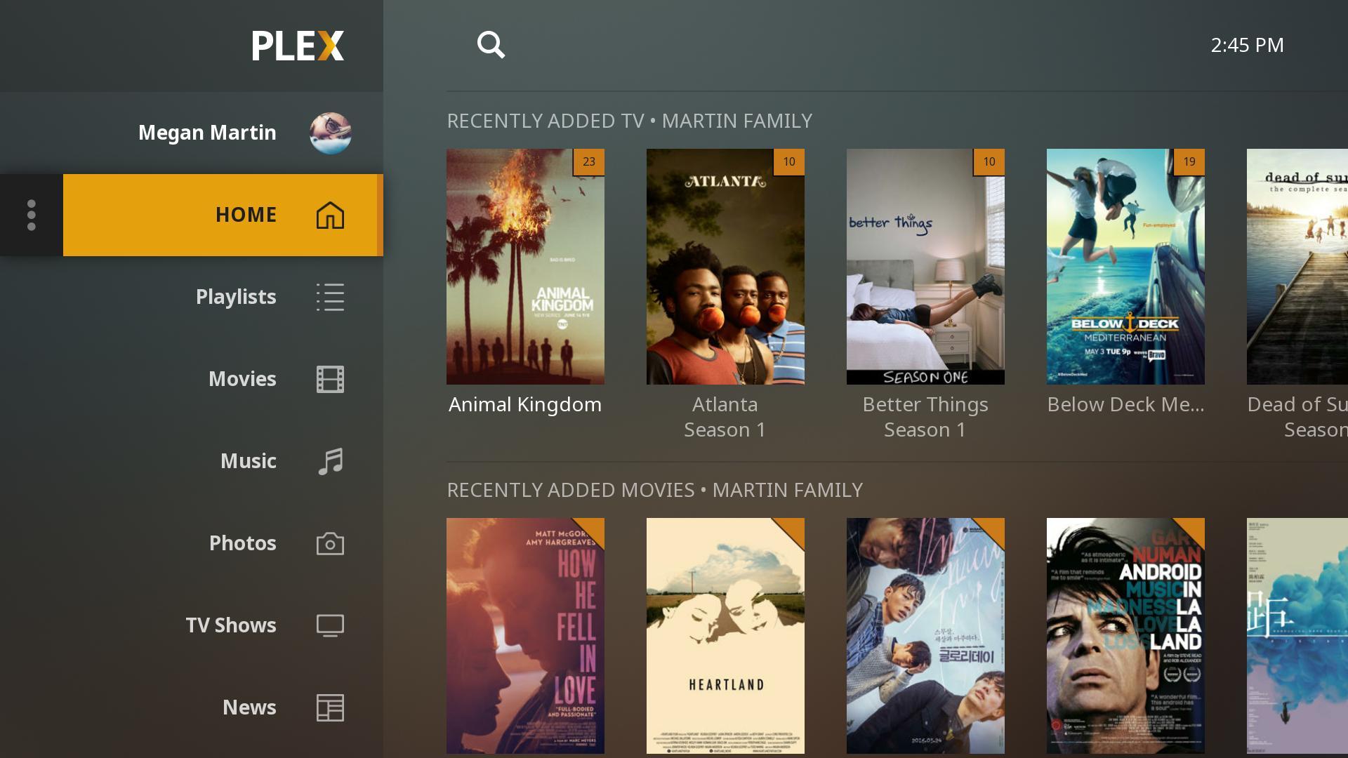 best free movie apps - Plex TV