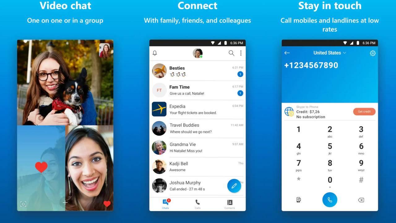 Calling apps - Skype